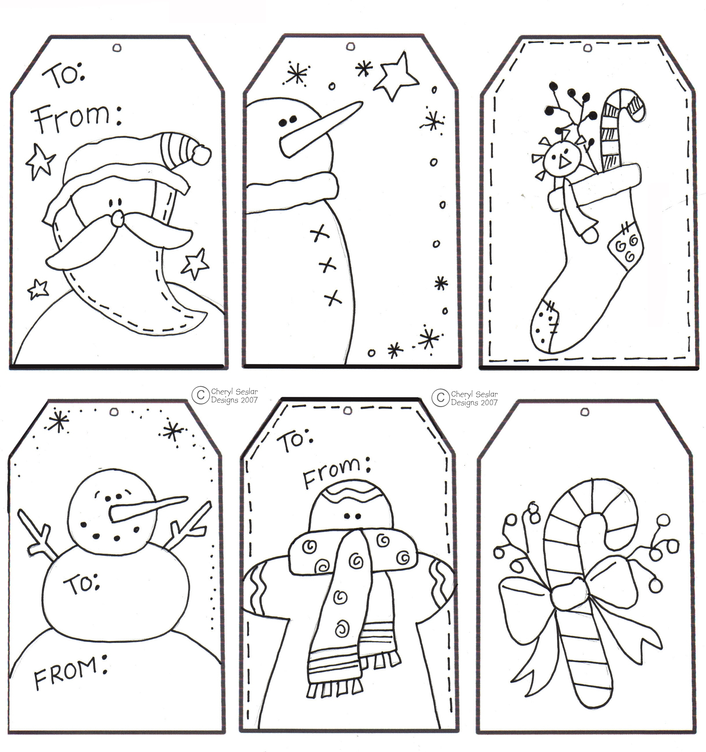 Christmas Cards Coloring Pages With Printable Card