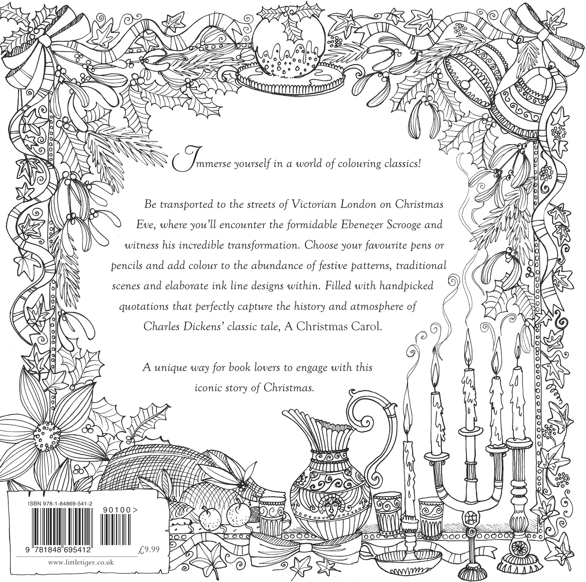 Christmas Carol Coloring Book With A Colouring Classic Amazon Co Uk Charles