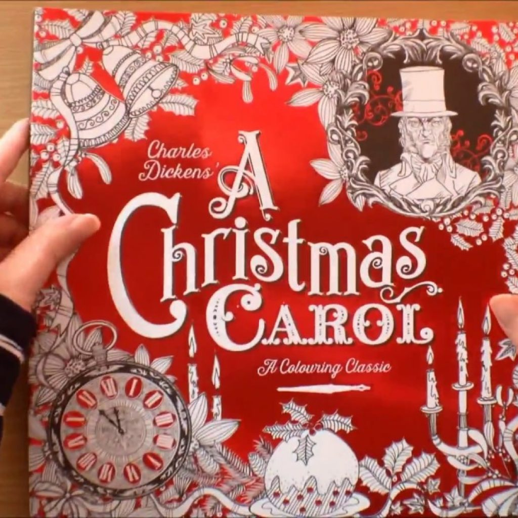 Christmas Carol Coloring Book With Charles Dickens A Colouring Classic By Vladimir