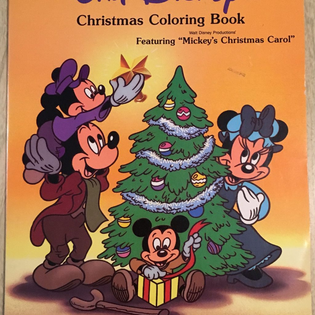 Christmas Carol Coloring Book With Mickey S DuckTales Collection