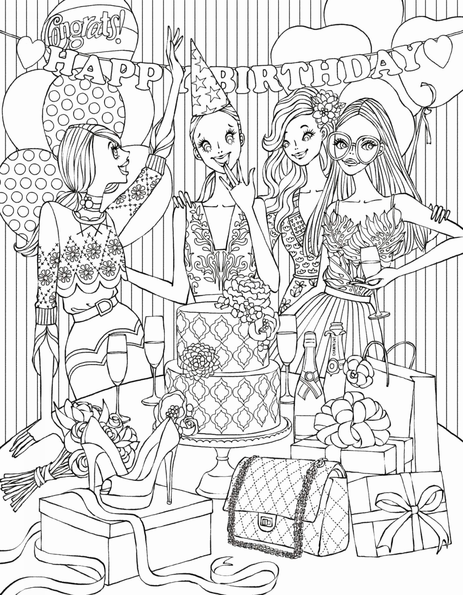 Christmas Cat Coloring Pages With Fun Time