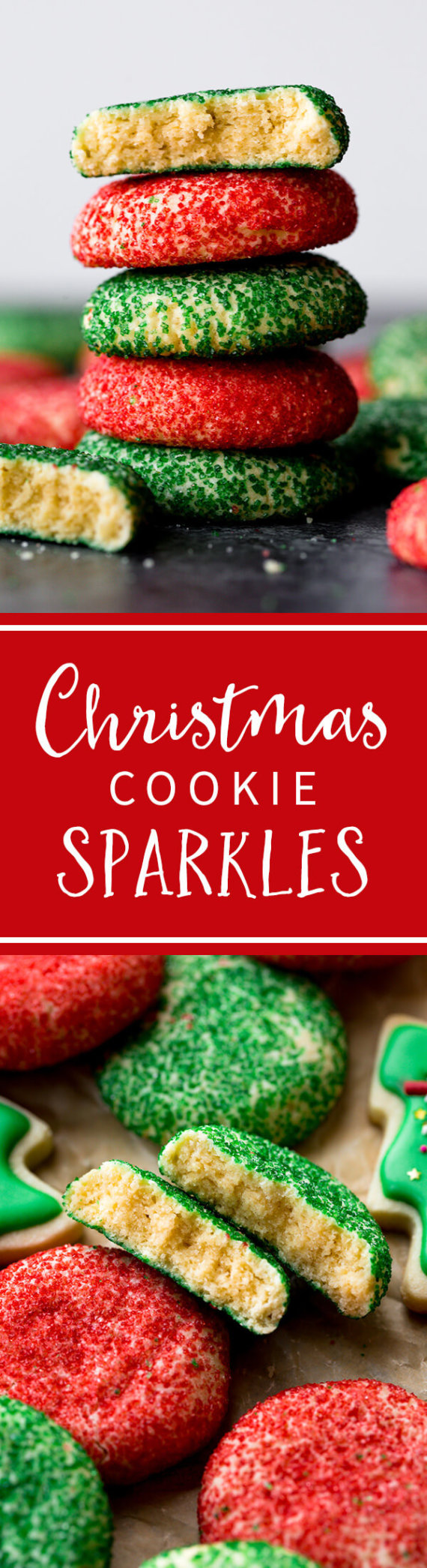 Christmas Colored Cookies With Cookie Sparkles Sally S Baking Addiction