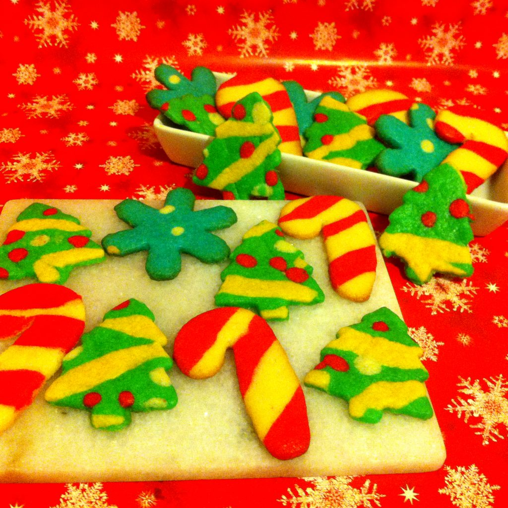 Christmas Colored Cookies With Dough Decorative FLAVORFUL JOURNEYS
