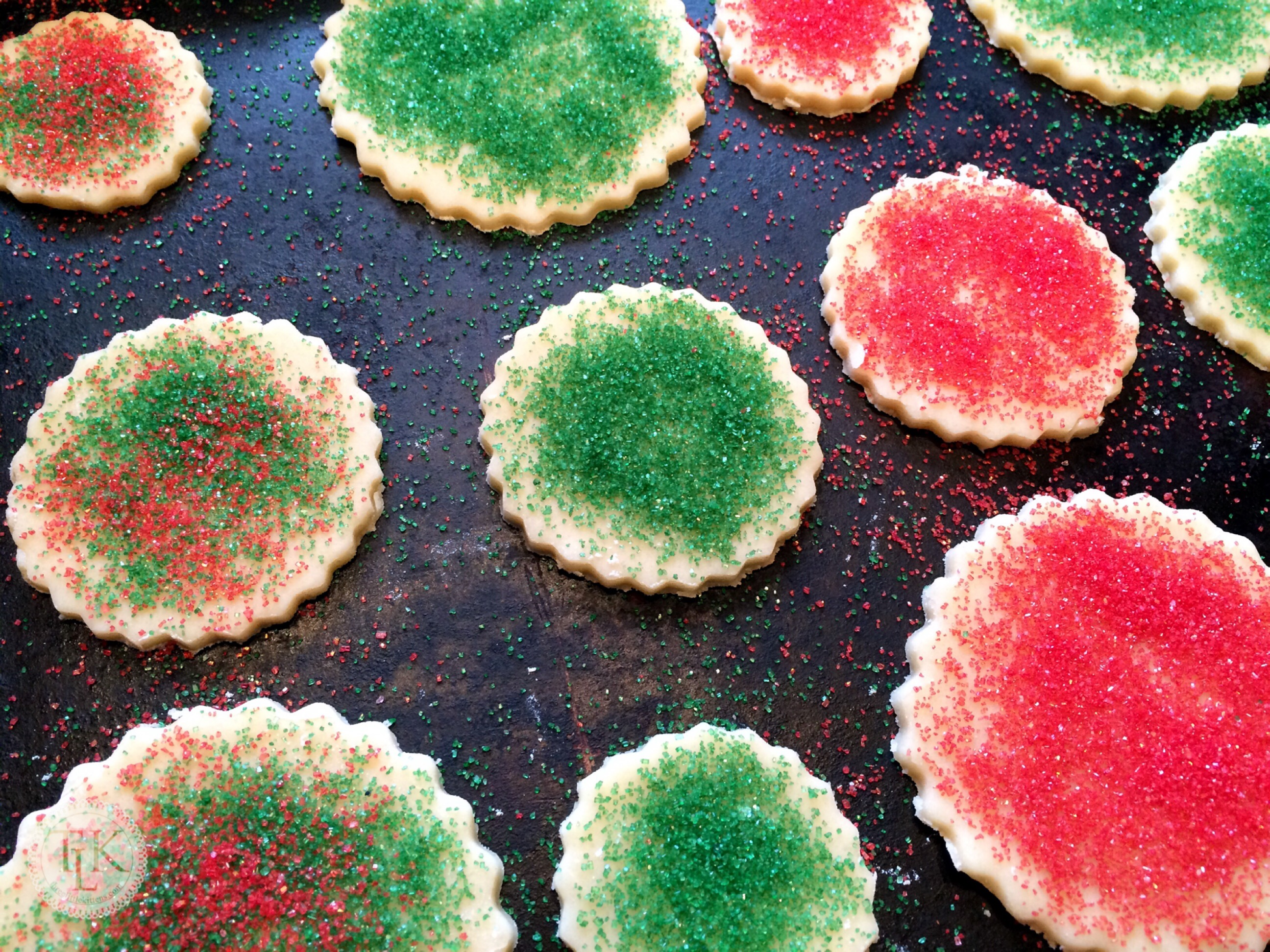 Christmas Colored Cookies With For Santa