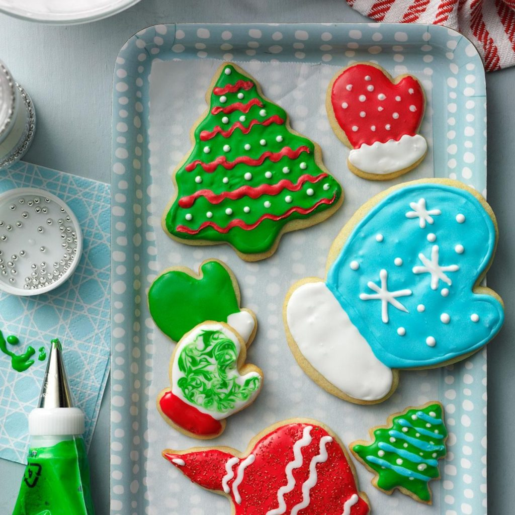 Christmas Colored Cookies With Holiday Cutout Recipe Sugar Cookie Recipes And