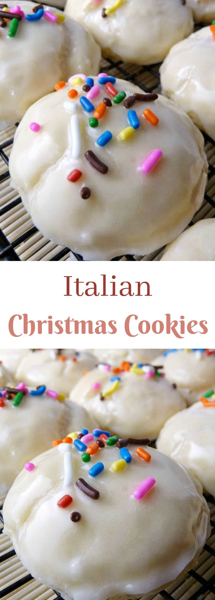 Christmas Colored Cookies With Italian Soft Cookie Balls Drenched In An Almond