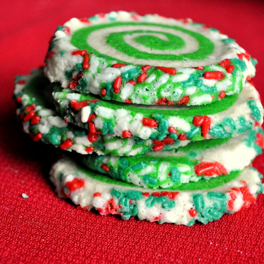 Christmas Colored Cookies With Our Italian Kitchen Colorful Swirl
