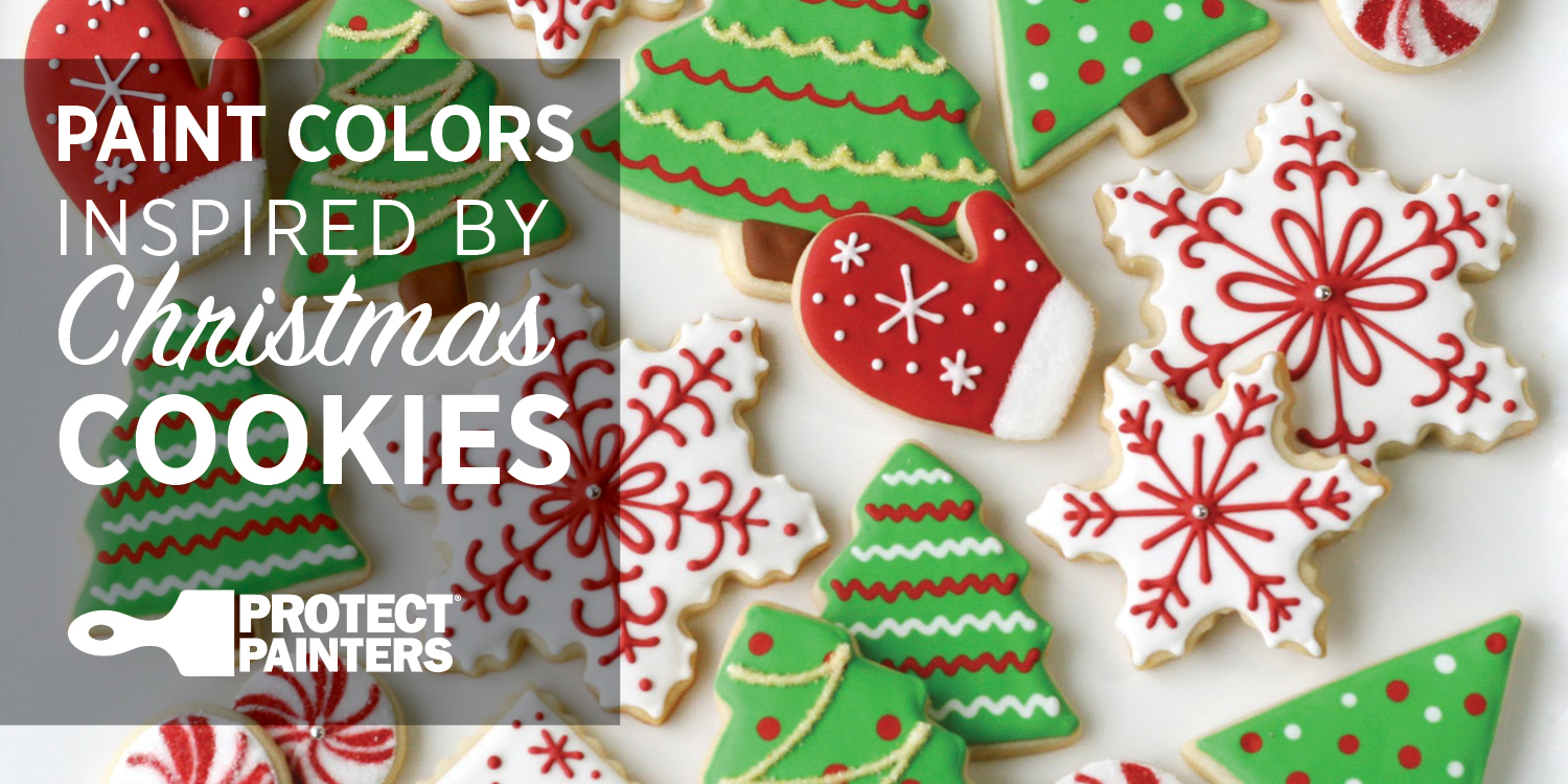 Christmas Colored Cookies With Paint Colors Inspired By