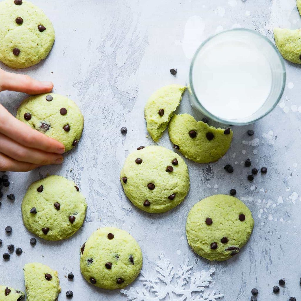 Christmas Colored Cookies With Peppermint Gluten Free Chewy Sugar Recipe Food Faith Fitness