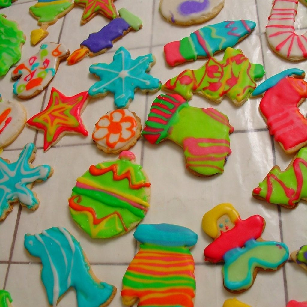 Christmas Colored Cookies With Sugar 2008 Veroniqque
