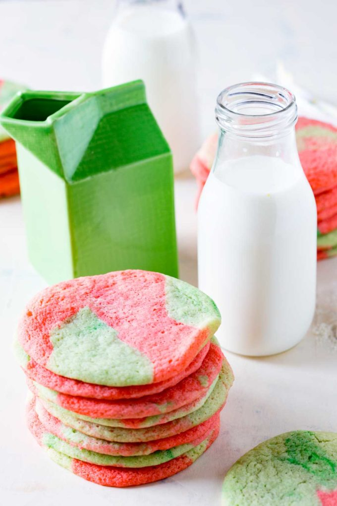 Christmas Colored Cookies With Tie Dye Sugar Easy Peasy Meals