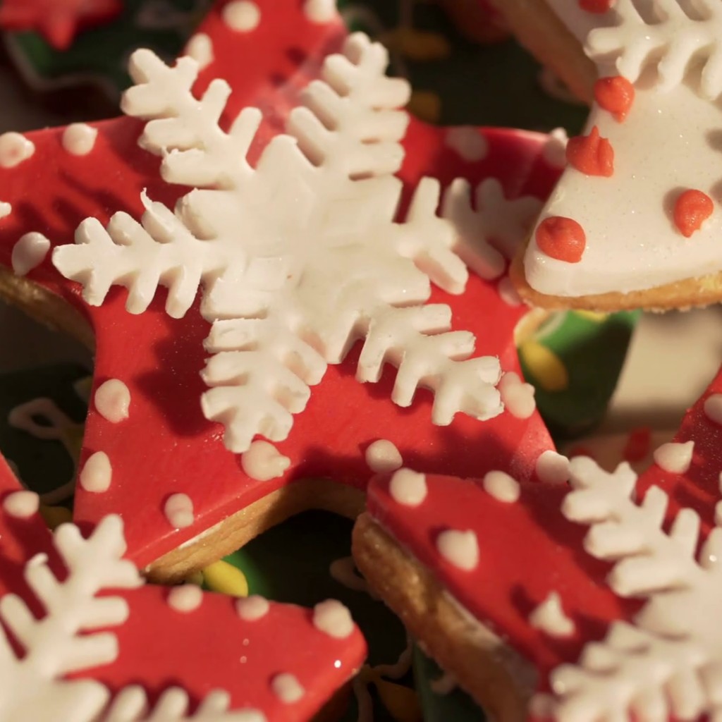 Christmas Colored Cookies With Video 4k Decorating Of Ginger Cake For Multi