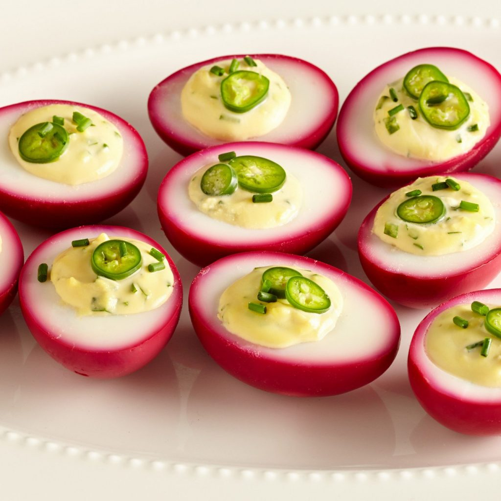 Christmas Colored Deviled Eggs With Beet Pickled Recipe Epicurious Com