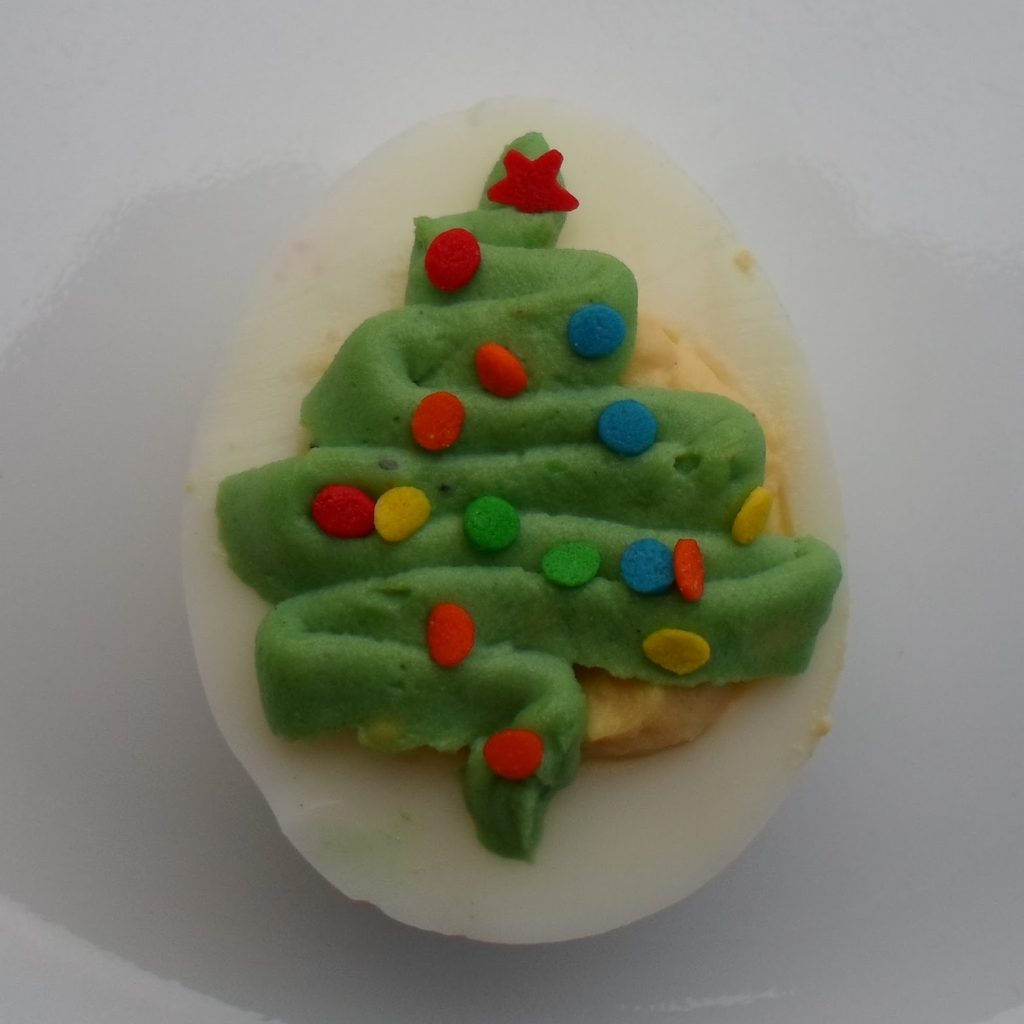 Christmas Colored Deviled Eggs With Happier Than A Pig In Mud Tree