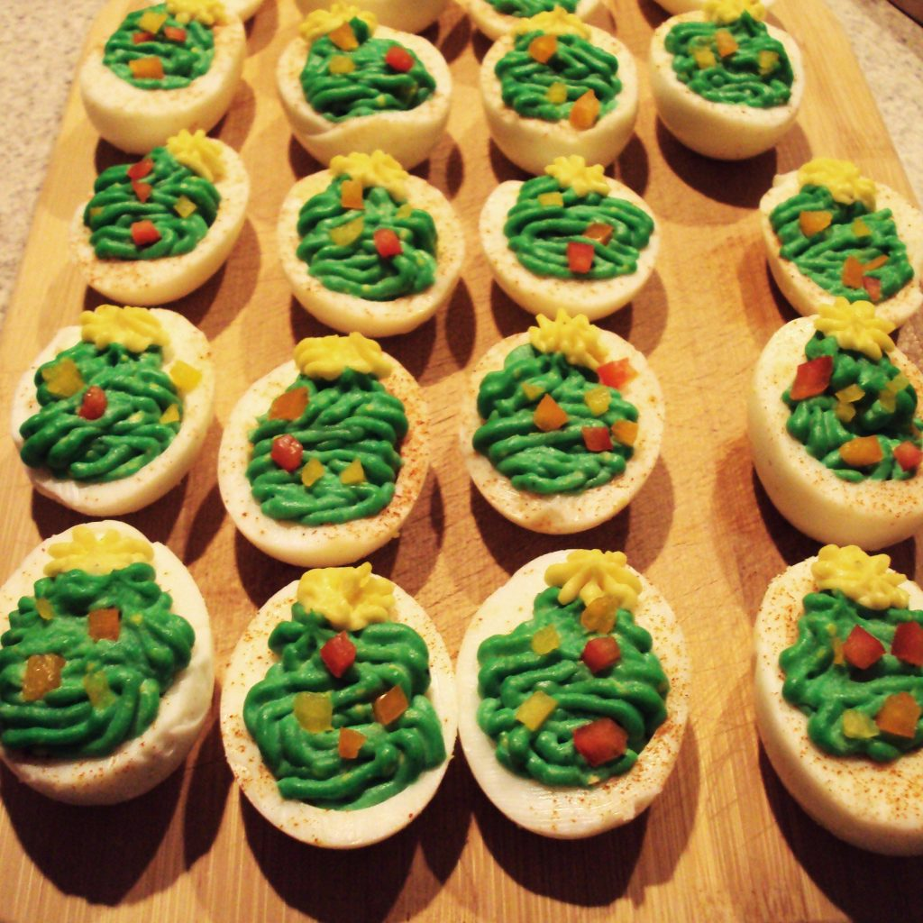 Christmas Colored Deviled Eggs With Savemart Holiday