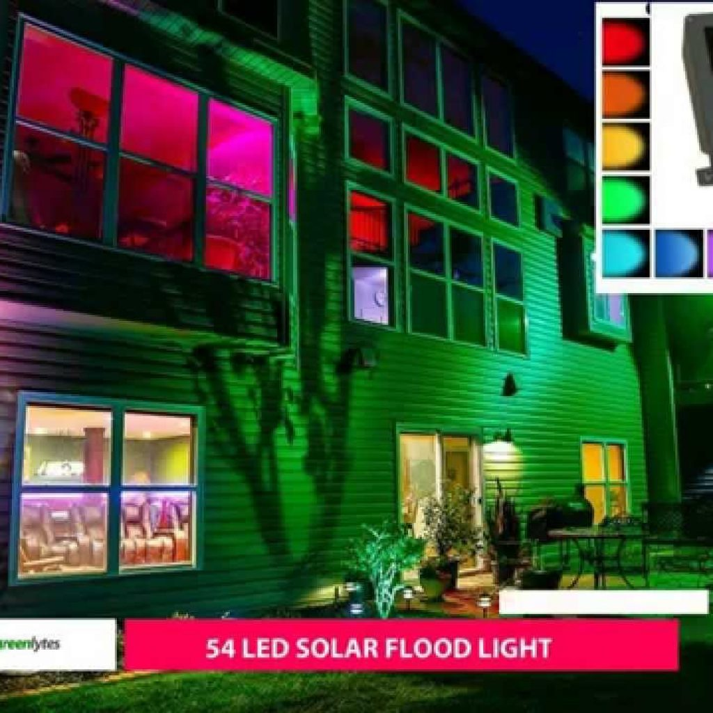 Christmas Colored Flood Lights With COLOR CHANGING SOLAR FLOOD LIGHT SGG RGB 54 2R YouTube