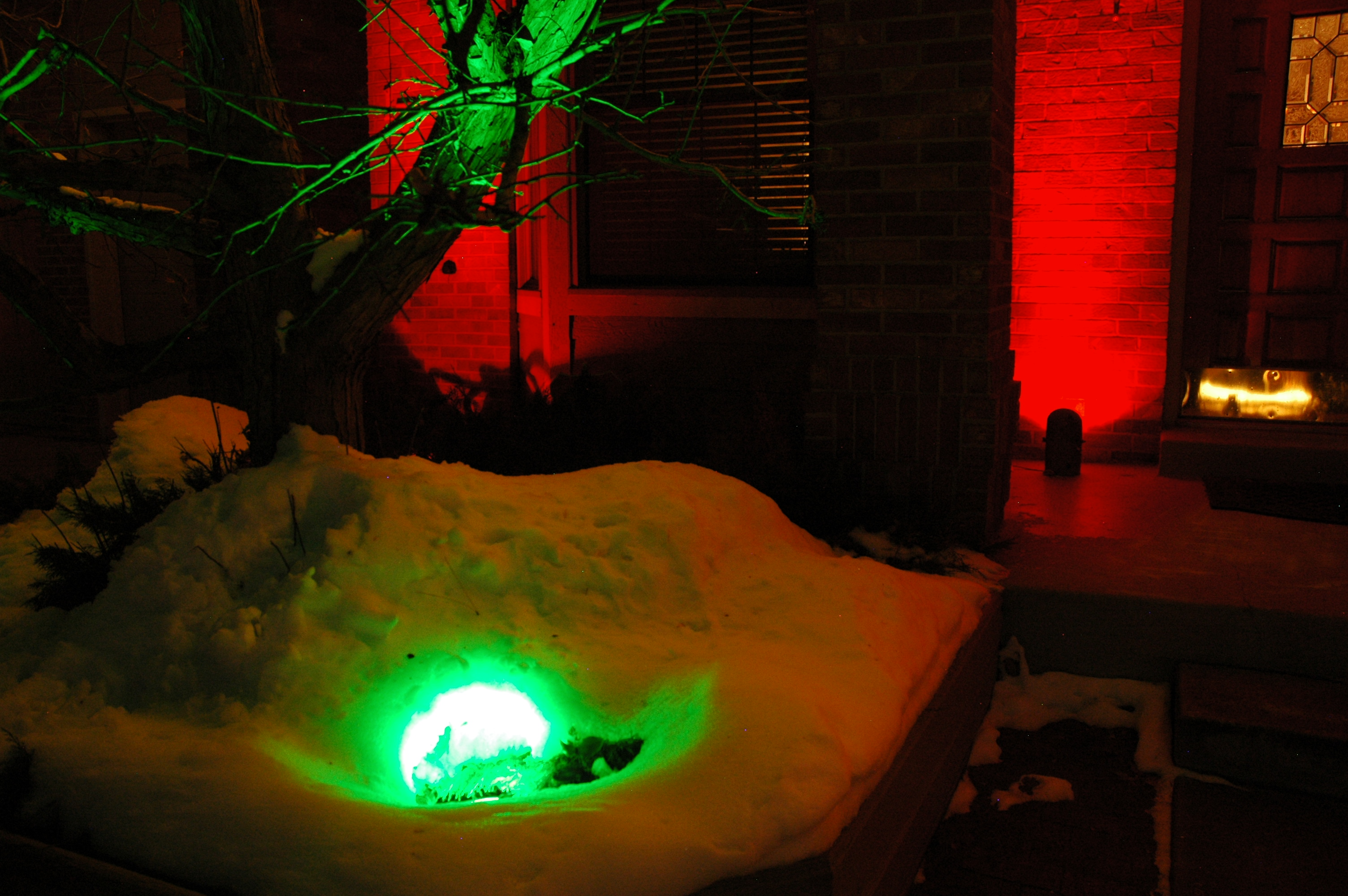 Christmas Colored Flood Lights With Color Lens Covers For Your Landscape Lighting Fixtures Make