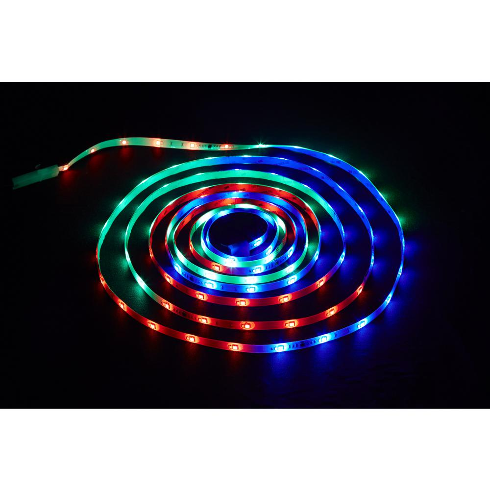 Christmas Colored Flood Lights With Commercial Electric 18 Ft LED Connectible Indoor Outdoor Color