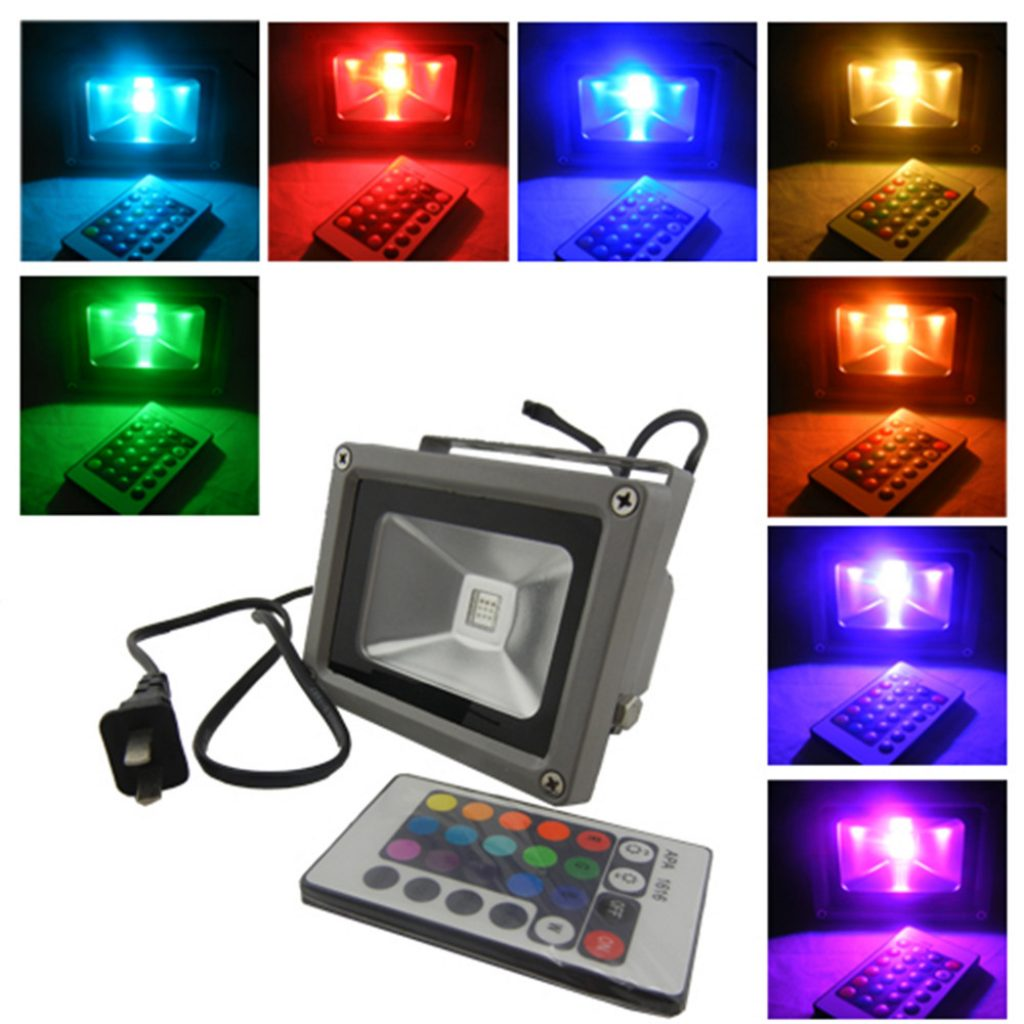 Christmas Colored Flood Lights With Outdoor Light Color Change Rgb 30w Latest Led