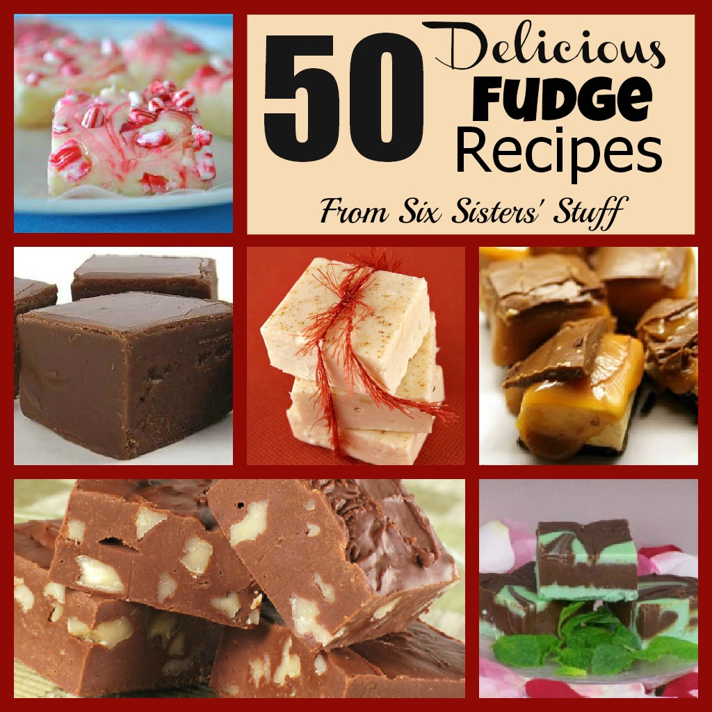 Christmas Colored Fudge With 50 Delicious Recipes Six Sisters Stuff