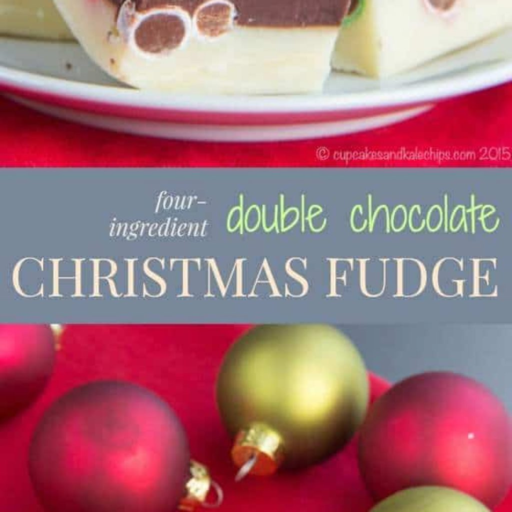 Christmas Colored Fudge With Four Ingredient Double Chocolate Cupcakes Kale Chips