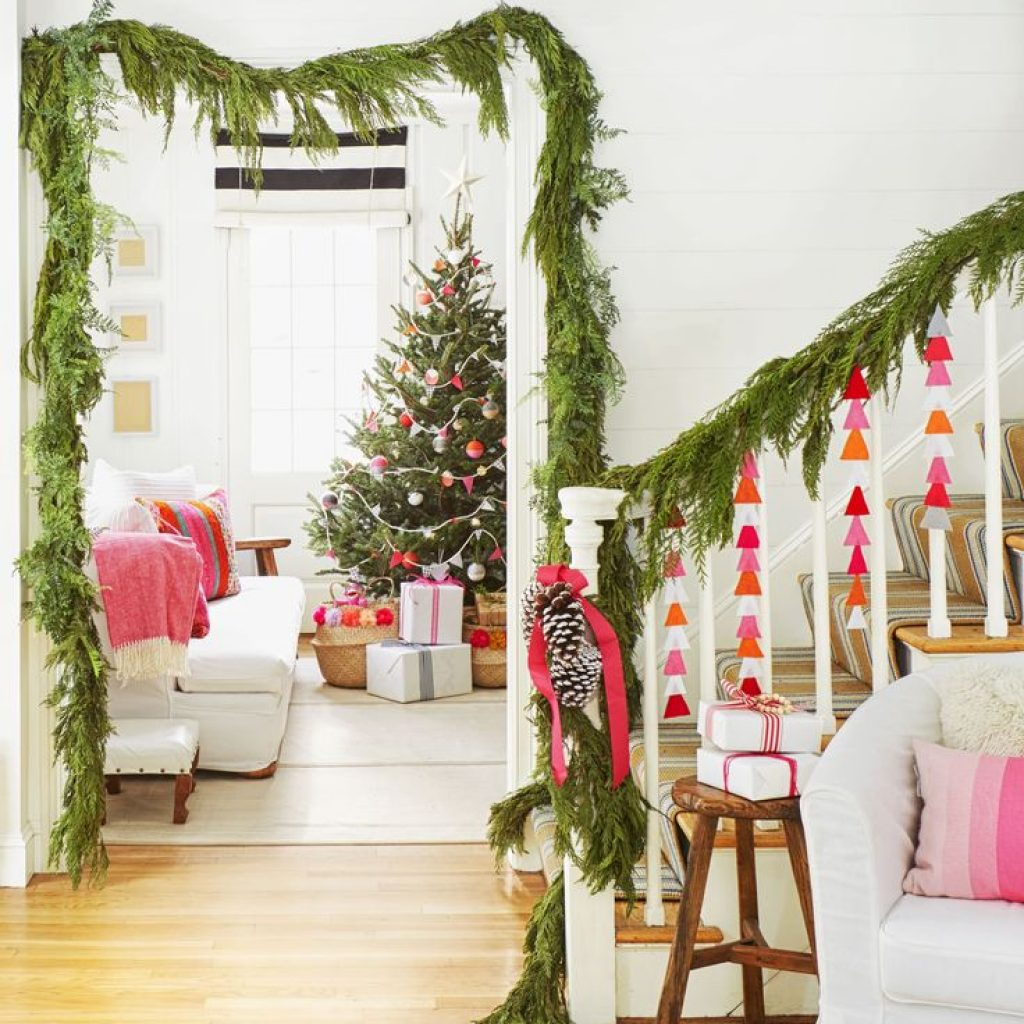 Christmas Colored Garland With 829 Best Holiday And Images On Pinterest Merry