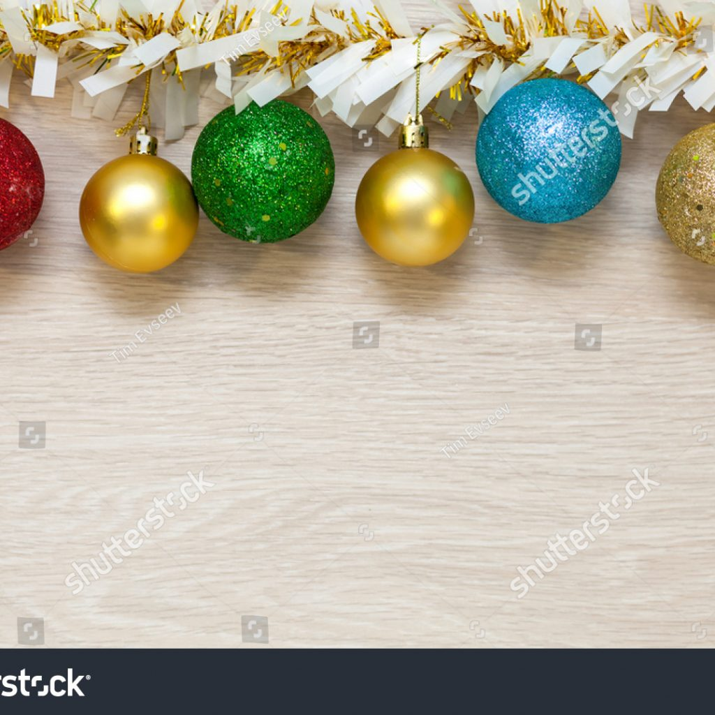 christmas-colored-garland-with-multicolored-balls-tinsel-stock-photo