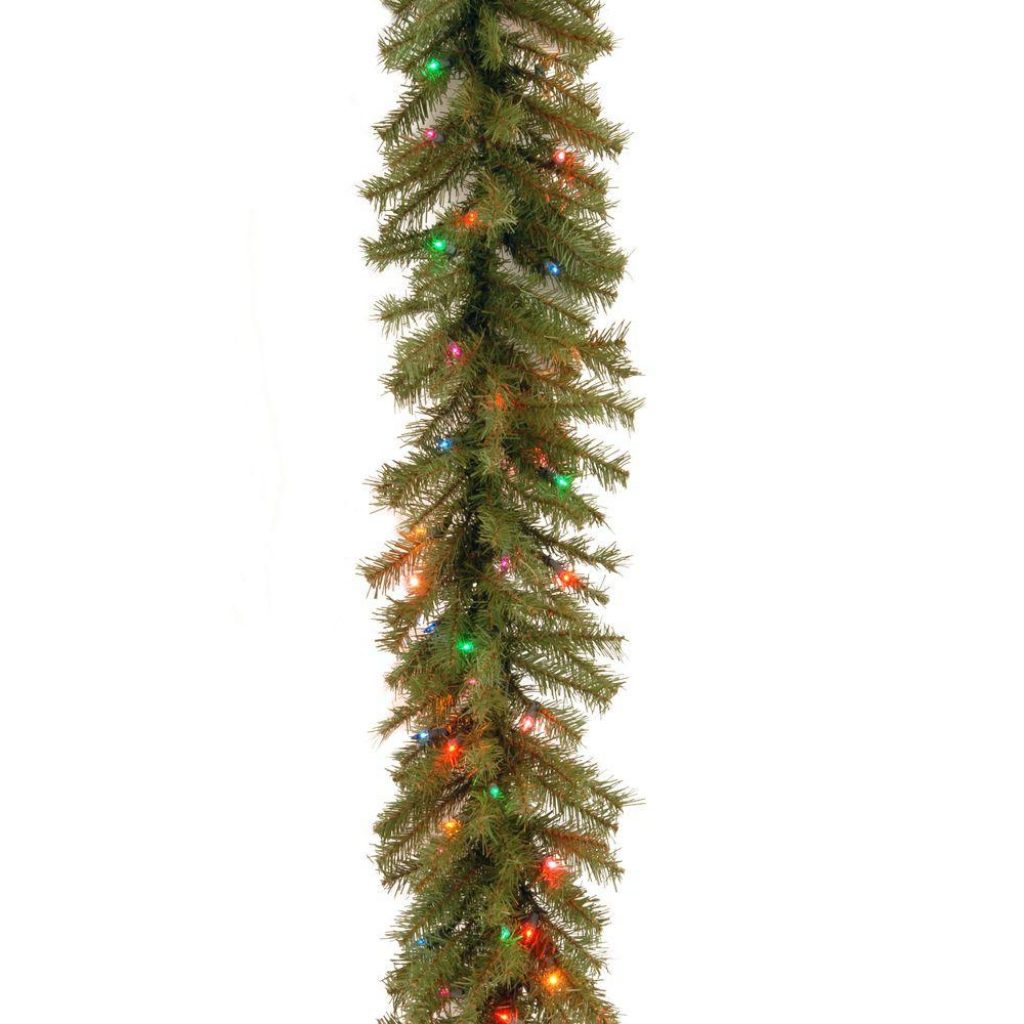 Christmas Colored Garland With National Tree Company 9 Ft Norwood Fir Artificial 100