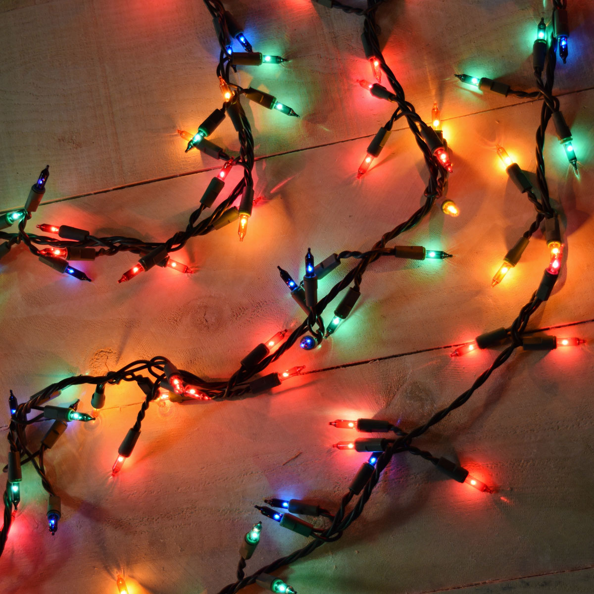 Christmas Colored Garland With Style Lights 300 Count Multi Color