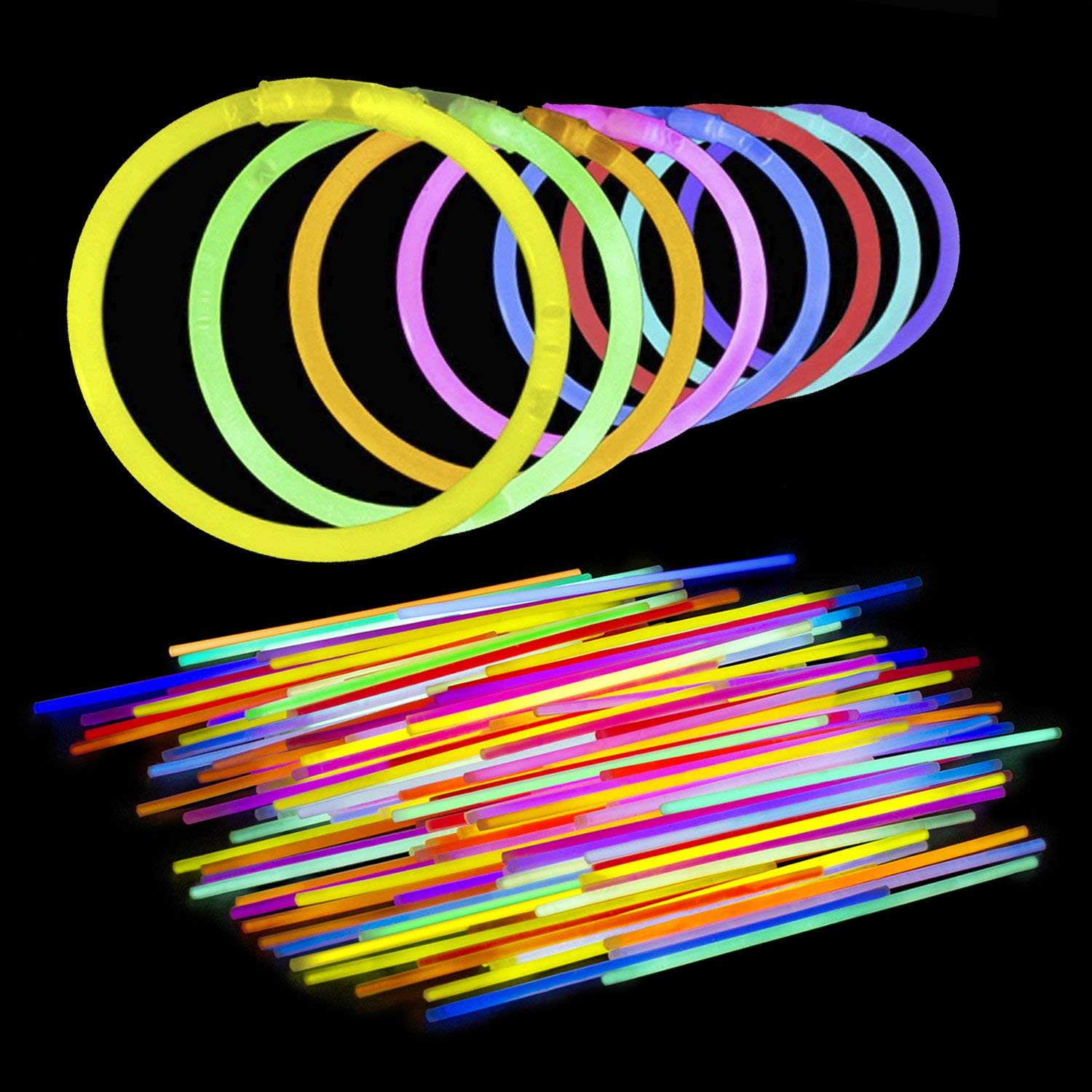 Christmas Colored Glow Sticks With Amazon Com Lumistick 8 Inch Bendable