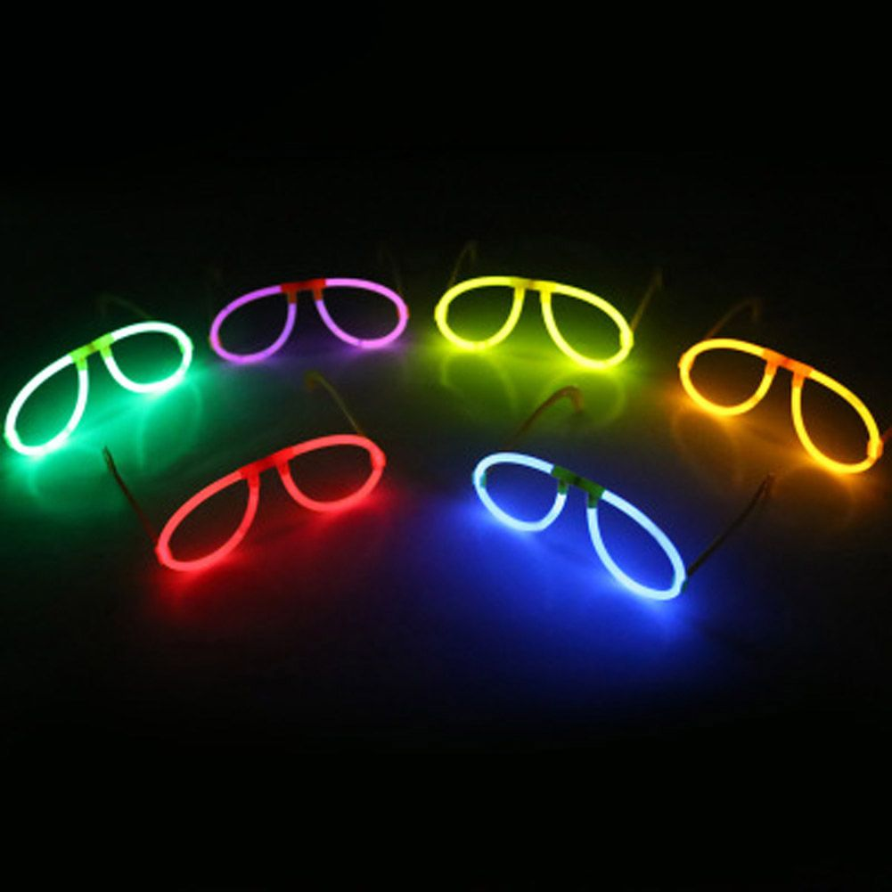 Christmas Colored Glow Sticks With Multi Color Fluorescence Glasses LED Skull Light