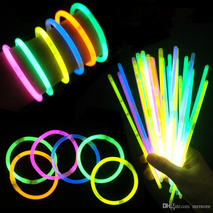 Christmas Colored Glow Sticks With Multi Color Stick Light Bracelets Necklaces For Party Hot Dance