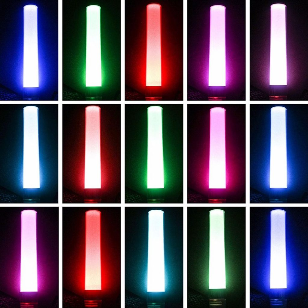 Christmas Colored Glow Sticks With Stick New Vision 15 Colors Changing In The Dark Multi Color