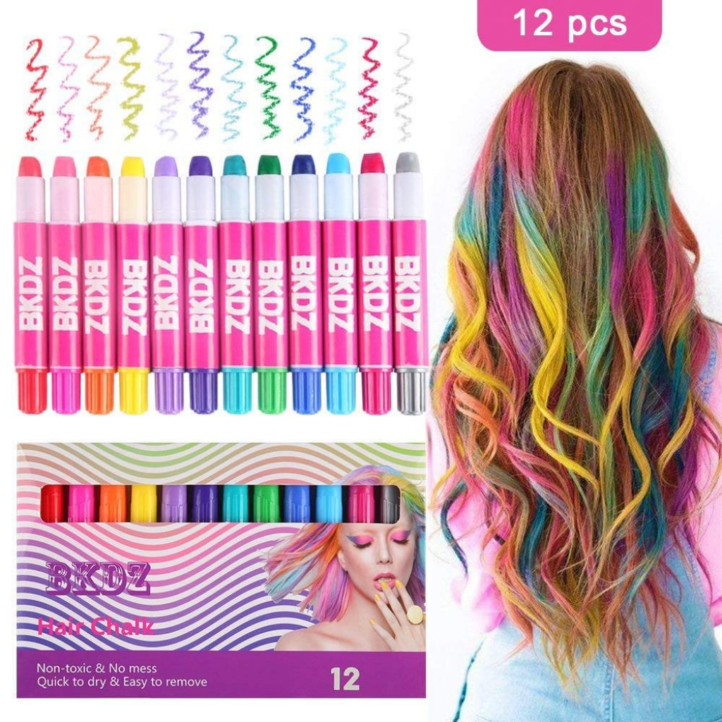Christmas Colored Hair With Chalk Color Set For Girls Kids Birthday Gifts 12