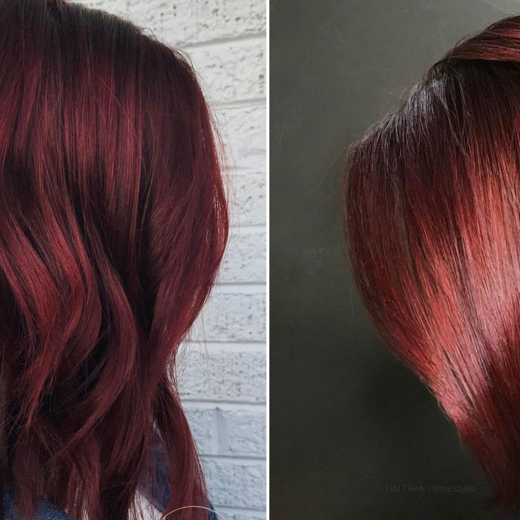 Christmas Colored Hair With Mulled Wine Color Is Perfect For Winter Glamour
