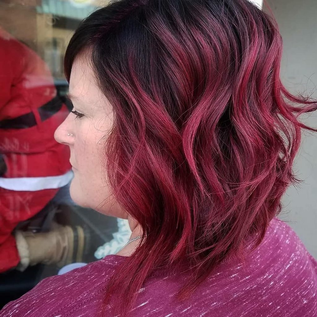Christmas Colored Hair With Ruby Red Just In Time For Color By Ashton Splat