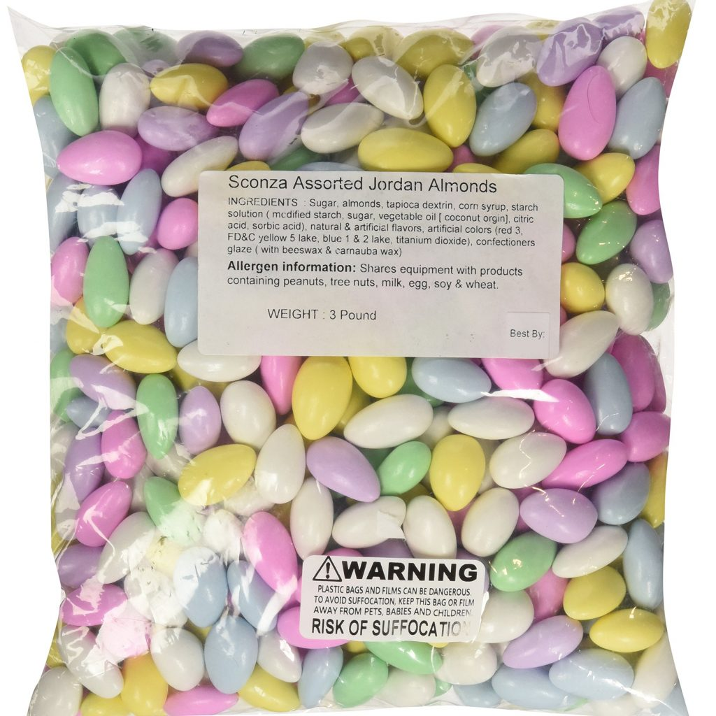 Christmas Colored Jordan Almonds With Amazon Com Pastel Coated Easter Candy 3 Pounds