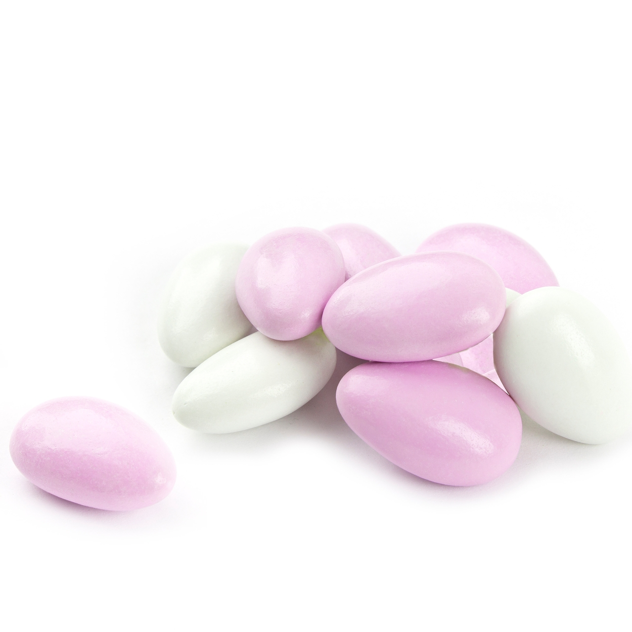 Christmas Colored Jordan Almonds With Super Fine Pink White Candy Bulk