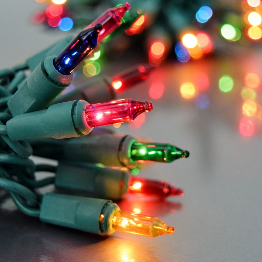 Christmas Colored Light Bulbs With Multi Color Party String Lights Green Wire 100