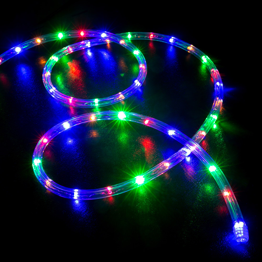 Christmas Colored Lights With 150 RGB Multi Color LED Rope Light Home Outdoor