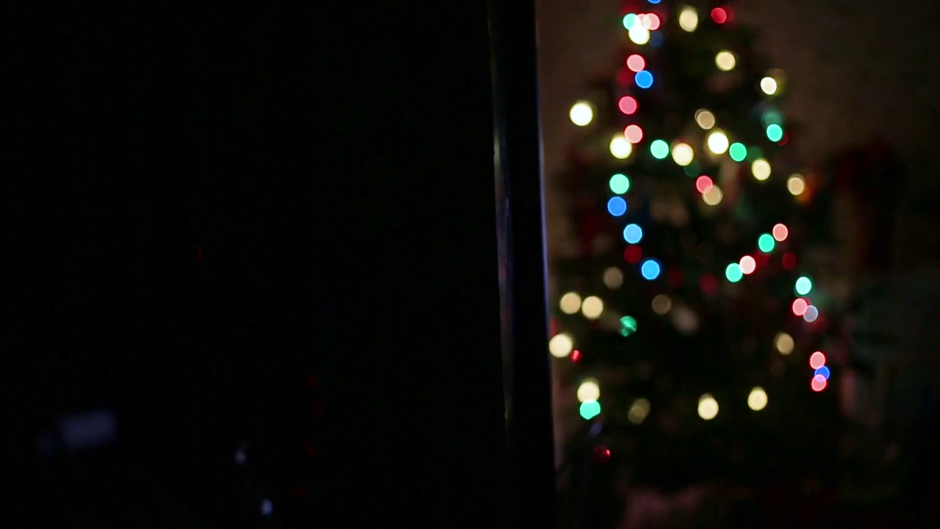 Christmas Colored Lights With Abstract Background Tree Stock Video