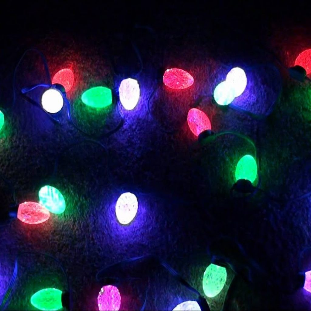 Christmas Colored Lights With GE G35 String Color Effects LED Changing