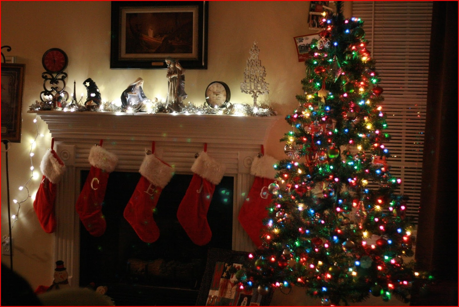 Christmas Colored Lights With Image Trees Decorating Ideas 7 Ts1 Us