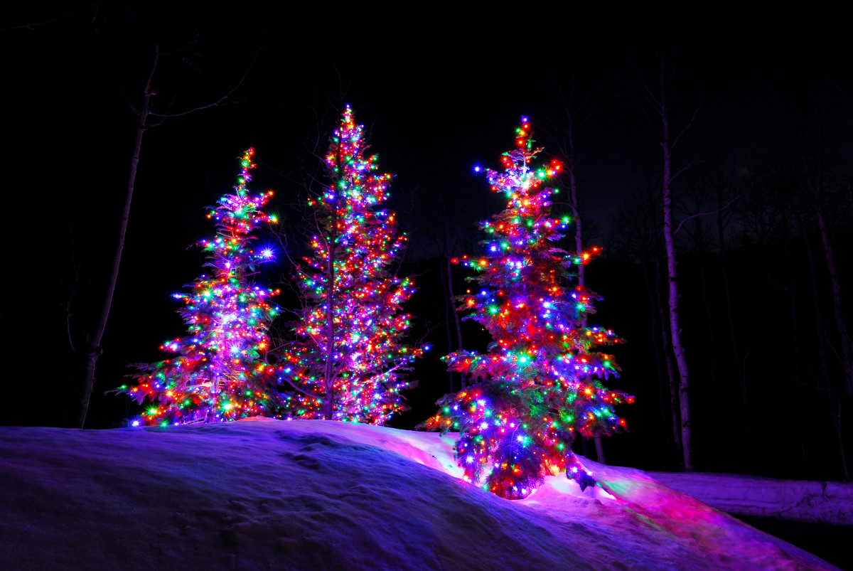 Christmas Colored Lights With Incandescent Vs LED Professional Lighting Utah Brite Nites