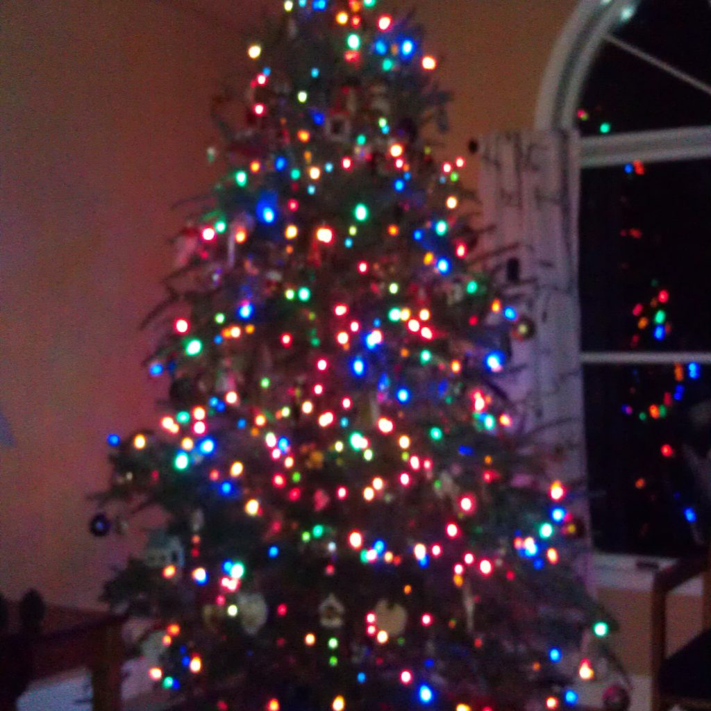Christmas Colored Lights With Tree White And Festival Collections