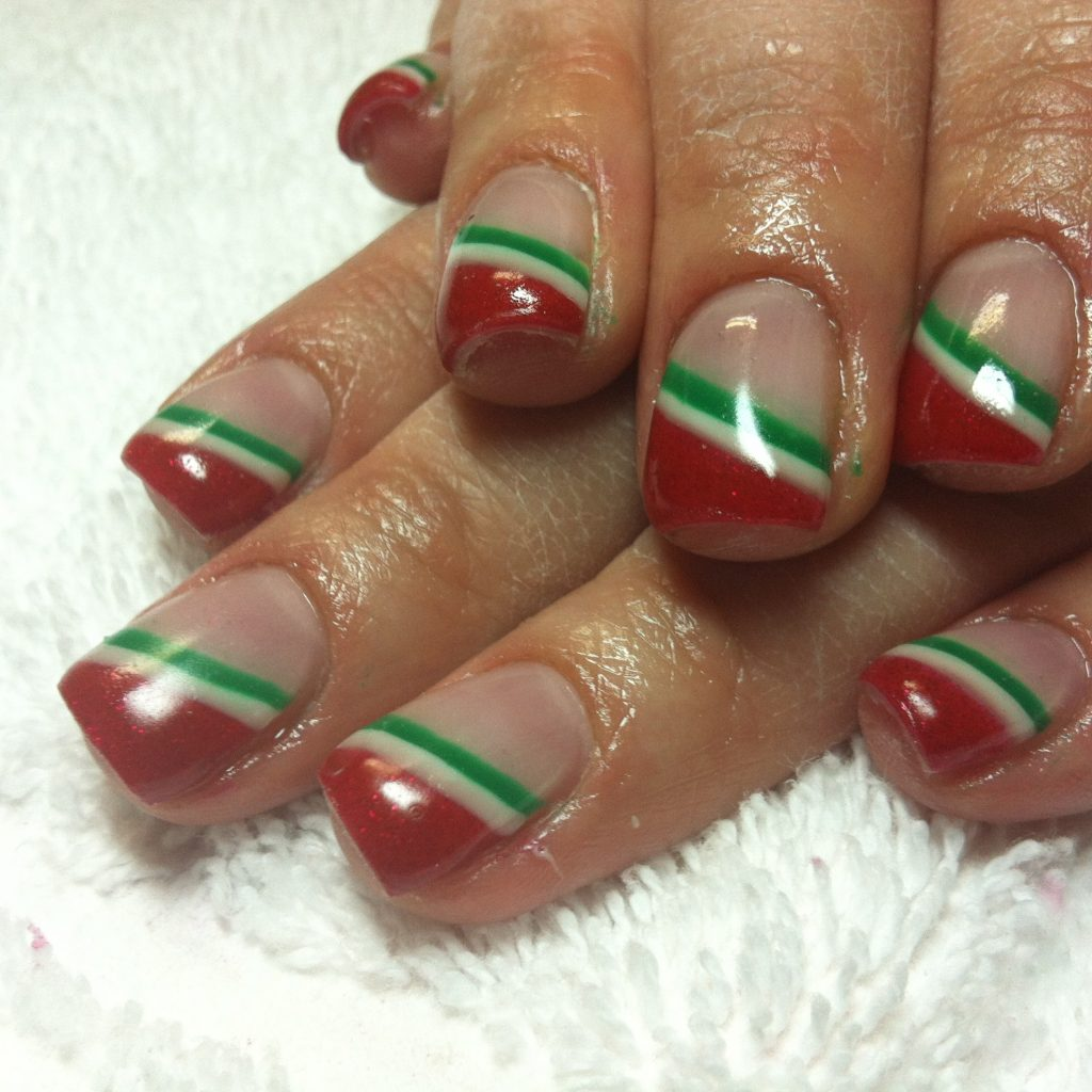 Christmas Colored Nails With Color Gel Karen S