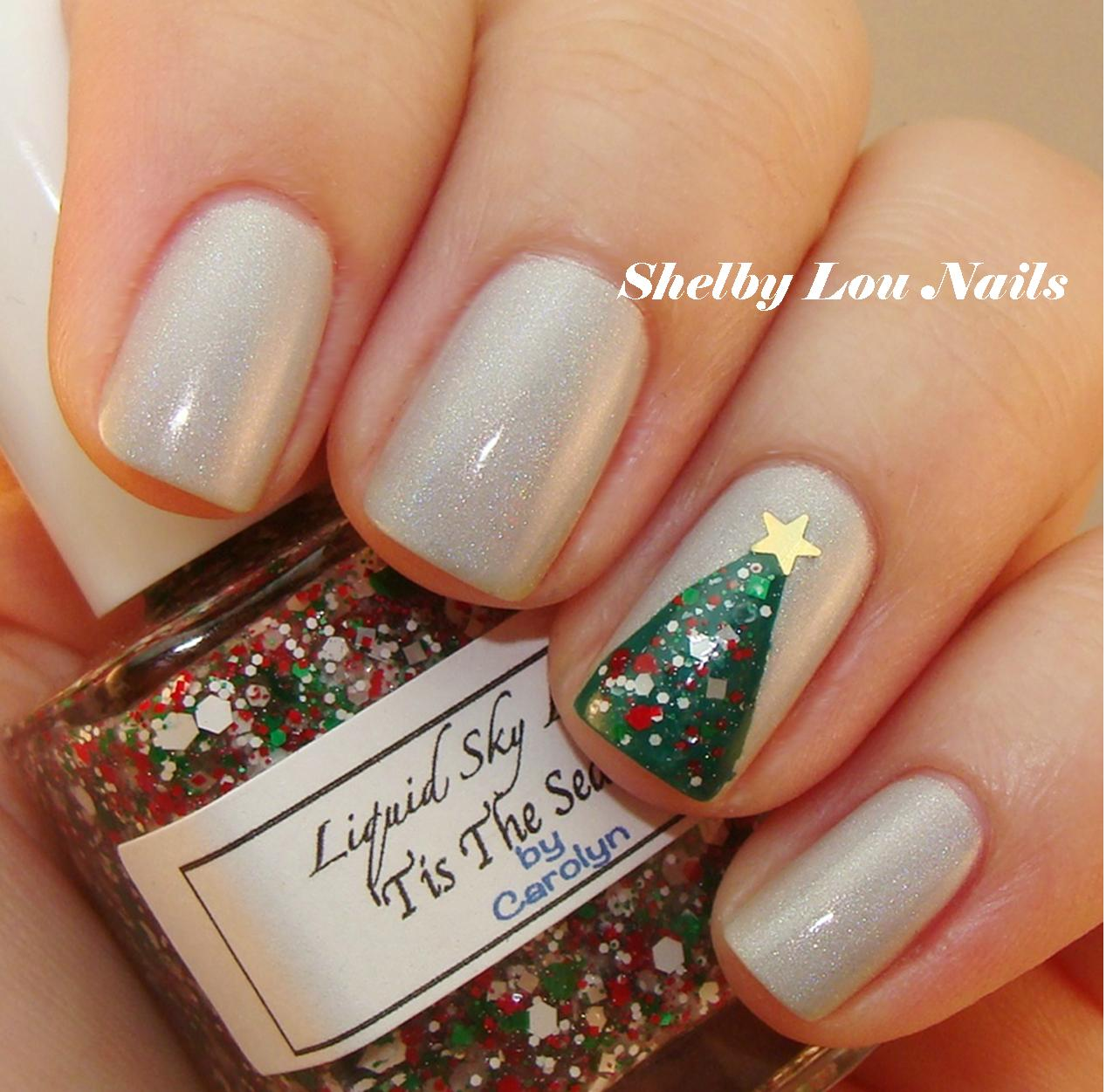 Christmas Colored Nails With Shelby Lou O Tree Nail Art Tutorial