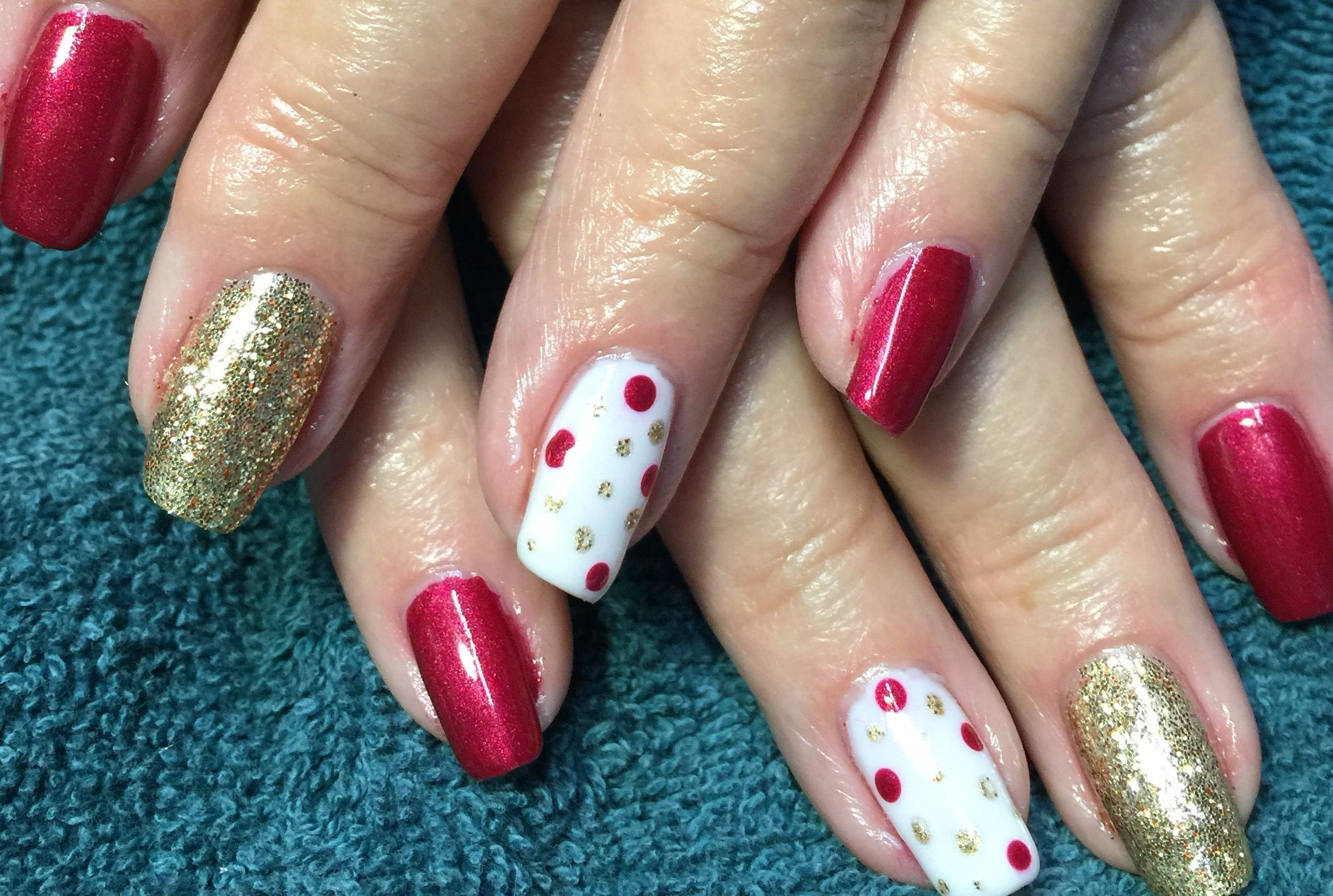 Christmas Colored Nails With Using CND Shellac It S That Time Of Year For Beautiful