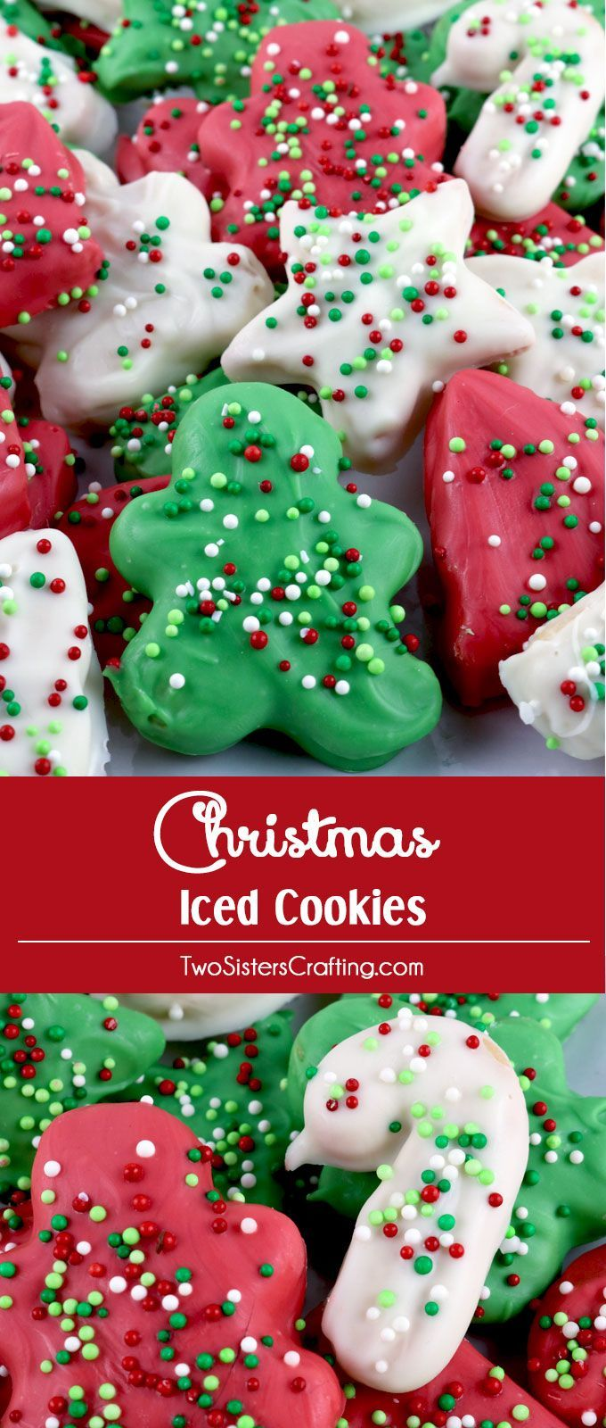 Christmas Colored Nonpareils With Holiday Circus Cookies Cookie Exchange Iced And