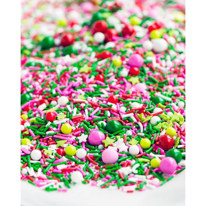 Christmas Colored Nonpareils With Sprinkles Best Fancy Medley Mixes Rainbow